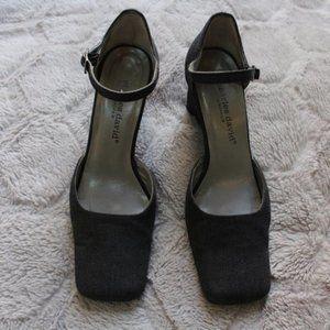 Vintage Charles David Square Toe Wedge Heels